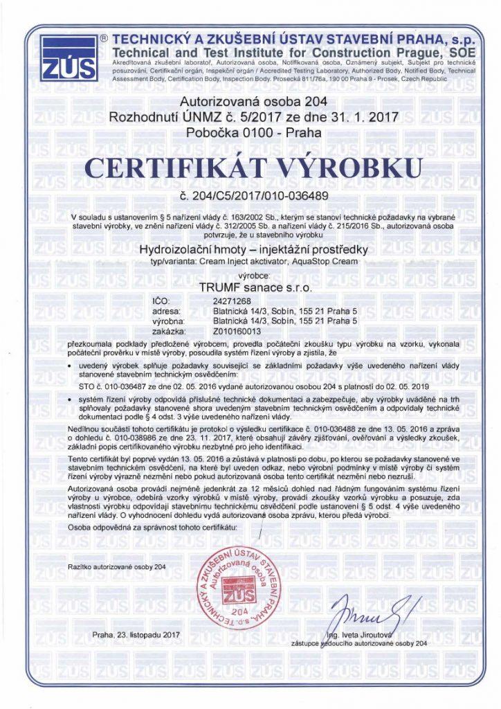Certifikat-aquastop