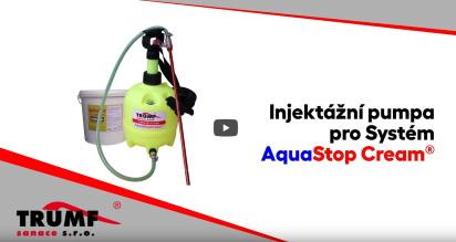 Použitie injektážnej pumpy